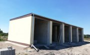 Postępy w budowie budynku garażowego